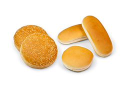 Hamburger bread and buns produced with Alitech bakery equipment